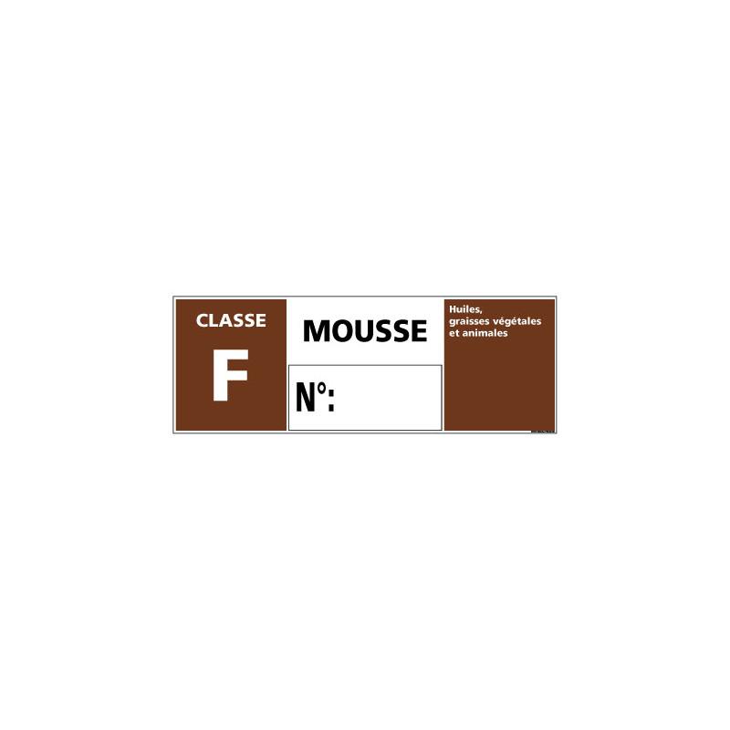 Panneau Signalisation Incendie CLASSE F - MOUSSE (A0543)