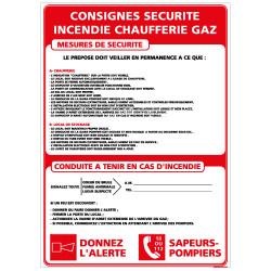 PANNEAU CONSIGNES SECURITE GAZ (A0553)