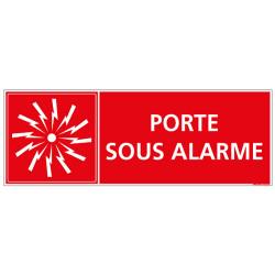 Panneau Signalisation Incendie PORTE SOUS ALARME (A0554)
