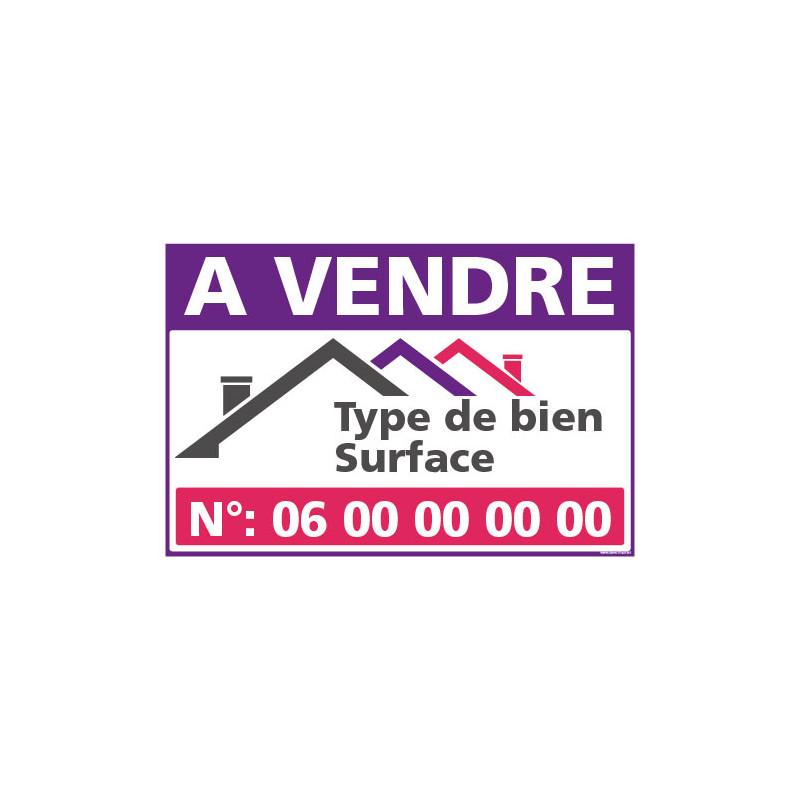 PANNEAU A VENDRE PERSONNALISABLE AKYLUX 3,5mm - 600x400mm (G1466)
