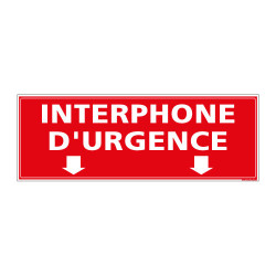 Panneau Signalisation Incendie INTERPHONE D'URGENCE (A0560)