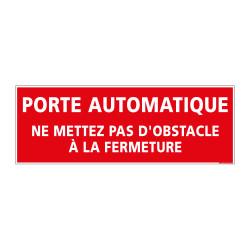 Panneau Signalisation Incendie PORTE AUTOMATIQUE (A0562)