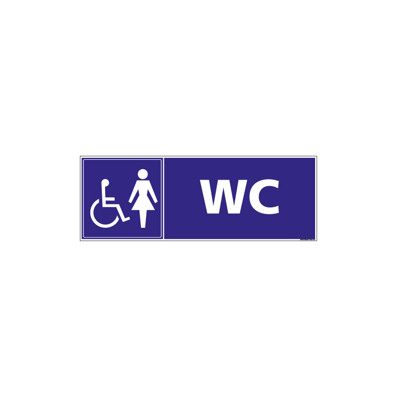 PANNEAU WC POUR FEMMES (G1531)