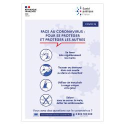PANNEAU D'INFORMATION COVID19 - COMMENT SE PROTEGER ET PROTEGER LES AUTRES FACE AU CORONAVIRUS ? (G1543)