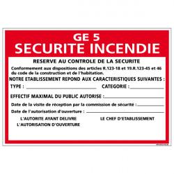 Panneau Consignes GE Securite incendie (A0573)