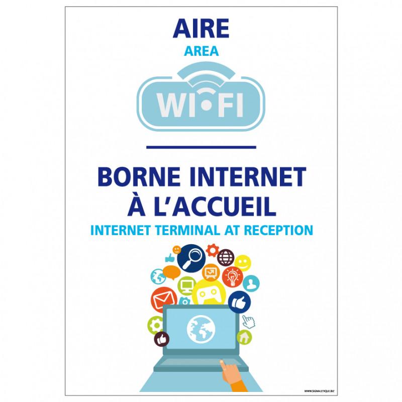 PANNEAU BORNE INTERNET A L'ACCUEIL (H0306)