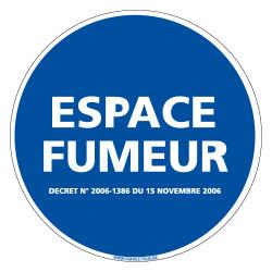 PANNEAU ESPACE FUMEUR (N0012)