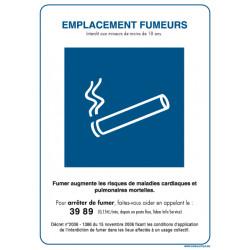 Panneau EMPLACEMENT FUMEUR (N0024)