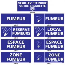 Panneau ESPACE FUMEUR ((local, zone, etc.)