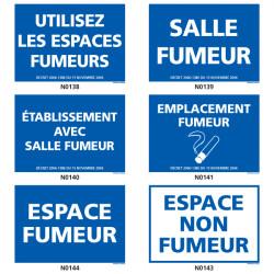 Panneau ESPACE FUMEUR (salle, emplacement, etc.)