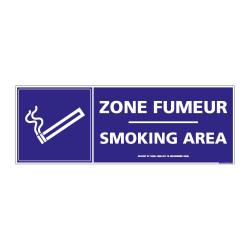 Visuel Zone fumeur / Smoking aera (N0161)