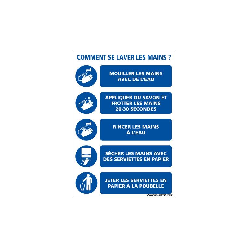 PANNEAU INFORMATIF - COMMENT SE LAVER LES MAIN EN PERIODE D'EPIDEMIE DE COVID-19 (E0715)