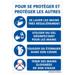 PANNEAU CRISE SANITAIRE CORONAVIRUS - GESTES BARRIERE POUR VOUS PROTEGER ET PROTEGER LES AUTRES (E0717)