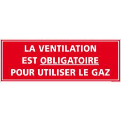 Panneau la ventilation est obligatoire (A0576)