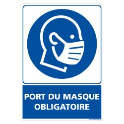 PANNEAU OBLIGATION DE PORTER UN MASQUE POUR DES MESURES D'HYGIENE (E0727)