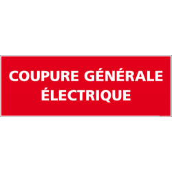 Panneau coupure generale electrique (A0577)