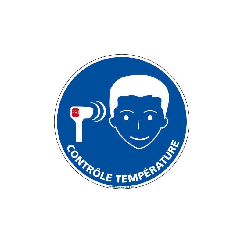 PANNEAU DE PRISE DE TEMPERATURE OBLIGATOIRE - PREVENTION SANITAIRE (E0732)