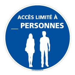 SIGNALISATION COVID19 - ACCES LIMITE AUX PERSONNES - NOMBRE PERSONNALISABLE (E0746-PERSO)