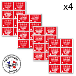 PLANCHE DE 32 ADHESIFS COLIS PREPARE DANS LES RESPECT DES NORMES SANITAIRE (G1560_PL8x4)