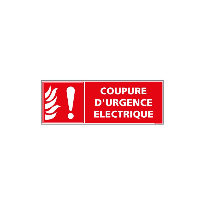 Panneau coupure d'urgence electrique (A0581)
