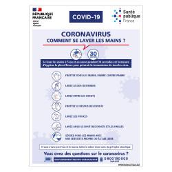 PANNEAU SIGNALETIQUE COVID19 ECOLE - COMMENT SE LAVER LES MAINS PENDANT LE CORONAVIRUS (G1587)