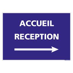 PANNEAU INFORMATIF CORONAVIRUS - ACCUEIL RECEPTION FLECHE VERS LA DROITE (H0517_FD)