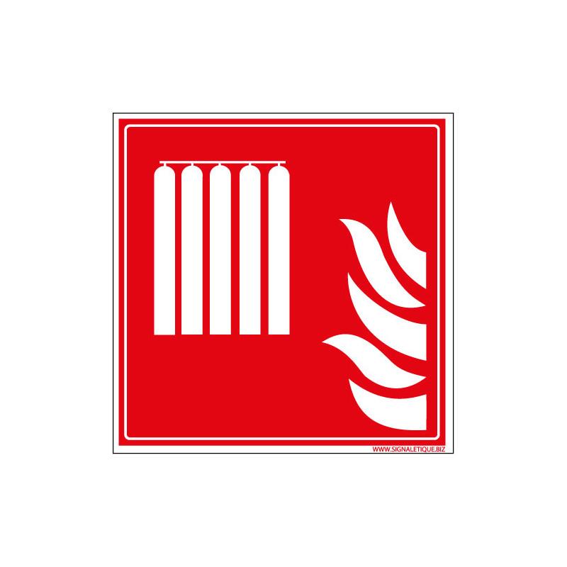 PANNEAU INCENDIE BONBONNES BOUTEILLES GAZ PROXIMITE (A0596)