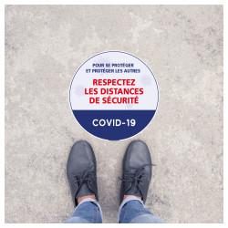 SIGNALISATION COVID 19 DE SOL - GARDEZ LES DISTANCES DE SECURITE - PREVENTION SANITAIRE (O0168)