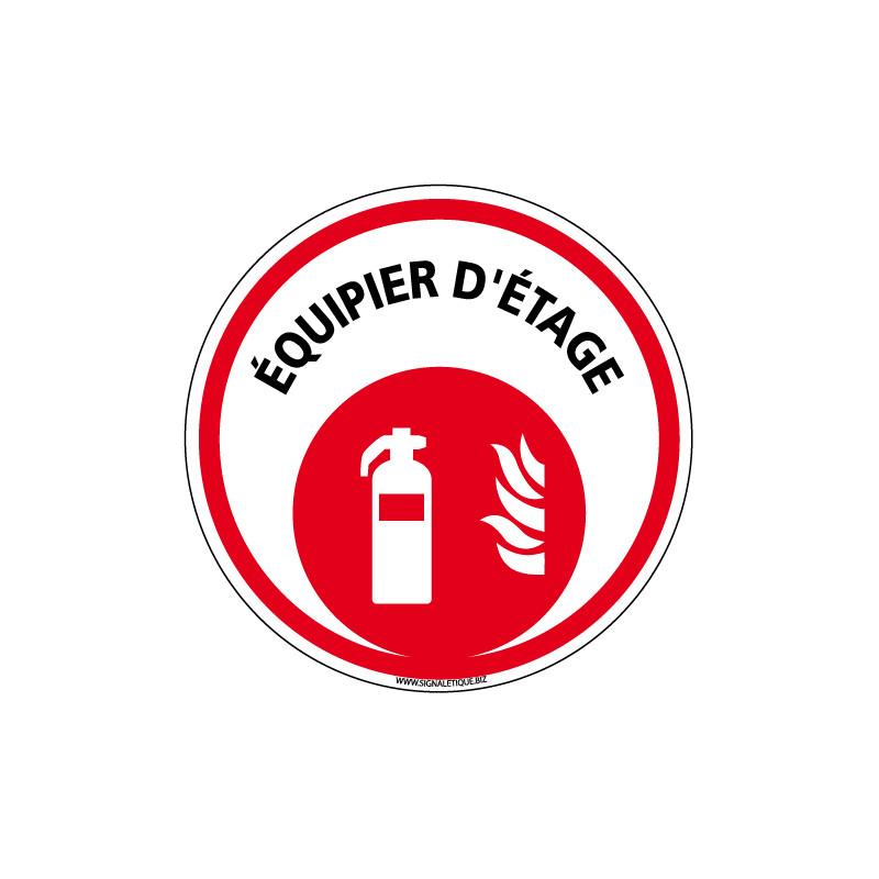 PANNEAU EXTINCTEUR EQUIPIER D'ETAGE (A0623)