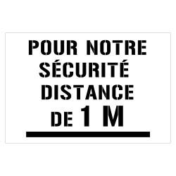 POCHOIR DE MARQUAGE AU SOL EN PVC - DISTANCE DE SECURITE (W1062)