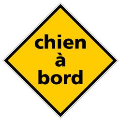 PANNEAU CHIEN A BORD (C1475)