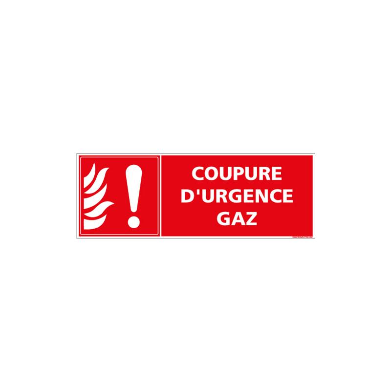 PANNEAU COUPURE D'URGENCE GAZ (A0637)