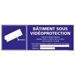 Panneau BATIMENT SOUS VIDEOPROTECTION (G0228-LOI-B)