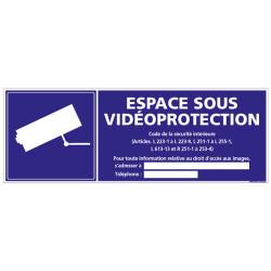 Panneau ESPACE SOUS VIDEOPROTECTION (G0255-LOI-B)