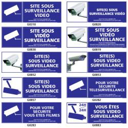 Panneau SURVEILLANCE VIDEO (site, securite)