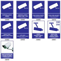 Panneaux de SURVEILLANCE VIDEO (securite, 24h/24, etc.)