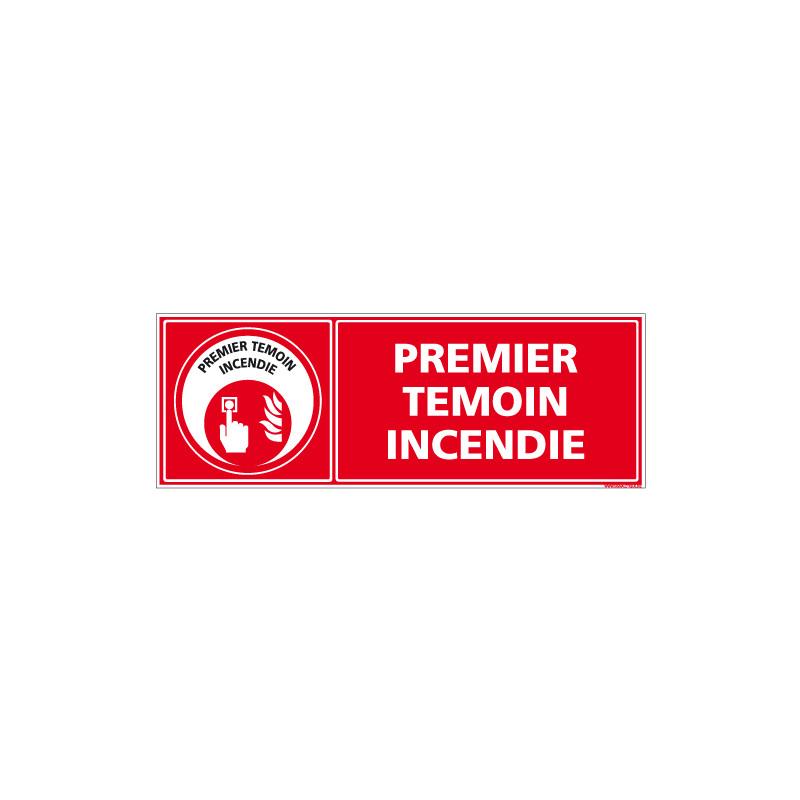 PANNEAU PREMIER TEMOIN INCENDIE (A0639)