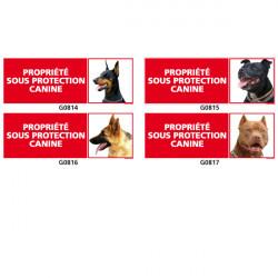 Panneau PROPRIETE SOUS PROTECTION CANINE