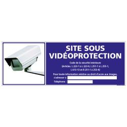 PANNEAU SITE SOUS VIDEOPROTECTION (G0819-LOI-B-NEW)
