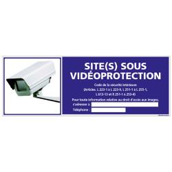 Panneau SITE(S) SOUS VIDEOPROTECTION (G0820-LOI-B-NEW)