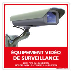 PANNEAU EQUIPEMENT VIDEO DE SURVEILLANCE (G0828)