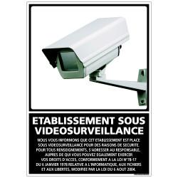 Panneau ETABLISSEMENT SOUS VIDEO SURVEILLANCE (G0831)