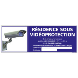 Panneau RESIDENCE SOUS VIDEOPROTECTION (G0846-LOI-B-NEW)