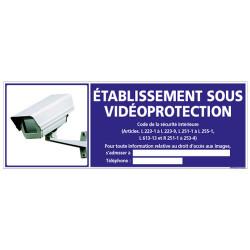 PANNEAU ETABLISSEMENT SOUS VIDEO PROTECTION (G0848-LOI-B-NEW)