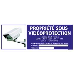 Panneau PROPRIETE SOUS VIDEOPROTECTION (G0854-LOI-B-NEW)