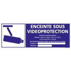 Panneau ENCEINTE SOUS VIDEO PROTECTION (G0858-LOI-B-NEW)