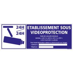 Panneau ETABLISSEMENT SOUS VIDEOPROTECTION 24H/24H (G0884)