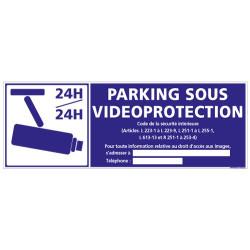 PANNEAU PARKING SOUS VIDEOPROTECTION 24H/24H (G0885-LOI-B-NEW)