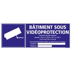Panneau BATIMENT SOUS VIDEO PROTECTION (G1069)