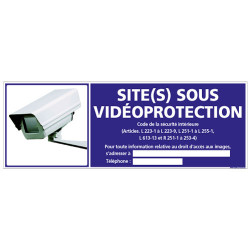 SITE(S) SOUS VIDEO-PROTECTION (G1072)